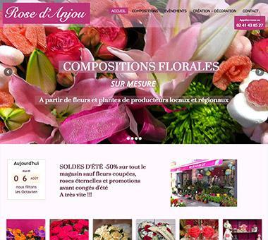 RÉALISATION DE SITE : Site pour Fleuriste