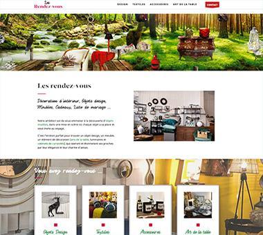 RÉALISATION DE SITE : Boutique décoration